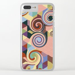 Swirl Deconstruction Clear iPhone Case