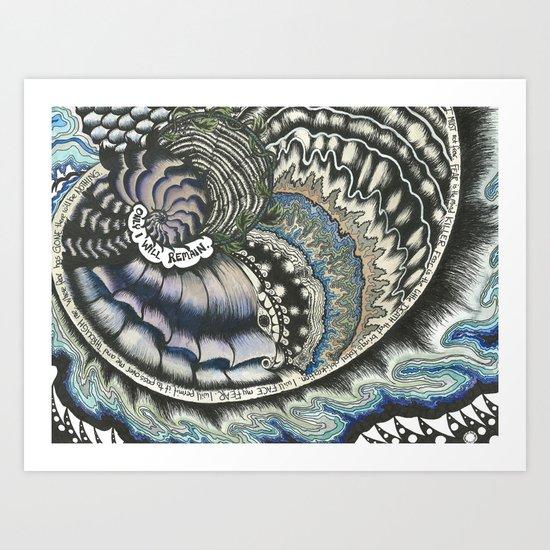 Golden Spiral (no fear) Art Print