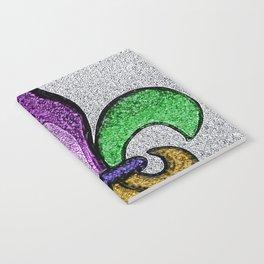 Fleur De Lis Purple Green and Gold Notebook