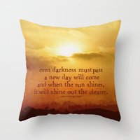 the lord of the rings Throw Pillows featuring LORD OF THE RINGS  by Brittney Weidemann