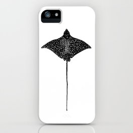 Eagle Ray Watercolor iPhone Case