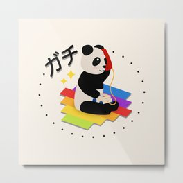 Seriously Panda - Kawaii Chatter Telephone Metal Print