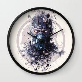 MK X, Subzero splatter Wall Clock