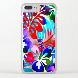 Tropical Jungle Flora Clear iPhone Case