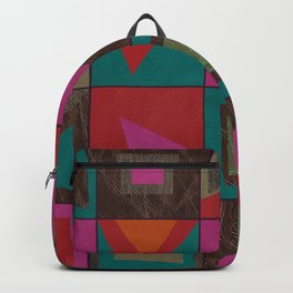 squares of colors and shreds Backpack