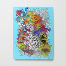 The Painting Dead Metal Print