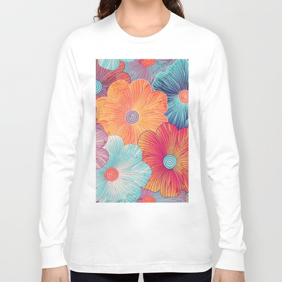 Big flowers Long Sleeve T-shirt