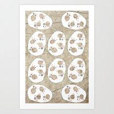 White Stones Art Print