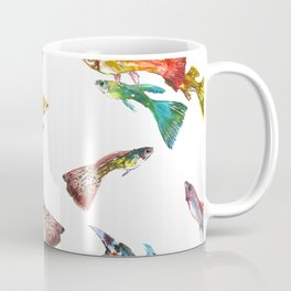 Tropical Colors, Guppy Aquarium Fish , Aquarium Art Underwater Coffee Mug