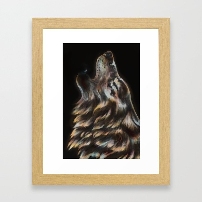 Iridescent Howl Framed Art Print