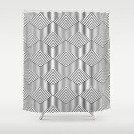 Bali_black&white Shower Curtain