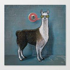 OK Llama Canvas Print