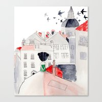 madrid Canvas Prints featuring Madrid by sole silbando