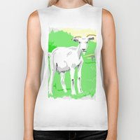 goat Biker Tanks featuring Goat by wingnang