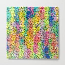 Little colorful rings Metal Print