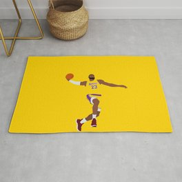 Lebron Dunk Laker James - Basketball Illustration Rug