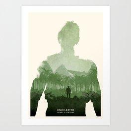 Uncharted 1 Art Print