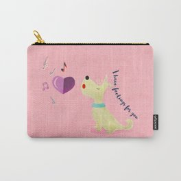 Valentine's Westie Dog in Love Carry-All Pouch