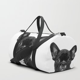 Black and White French Bulldog Duffle Bag