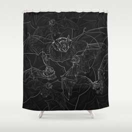 Bat Attack Shower Curtain