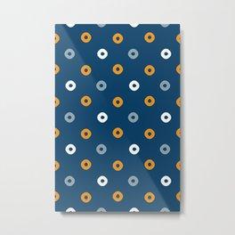 Pattern Play:  Blue Polka Dots Metal Print