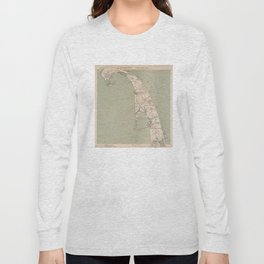 Vintage Map of Lower Cape Cod (1891) Long Sleeve T-shirt