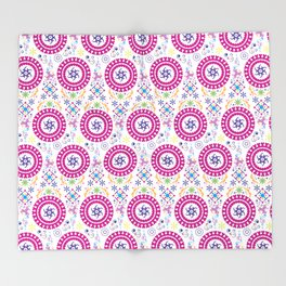 Pink Abstract Pattern Throw Blanket