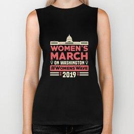 Women's March Washington DC Shirt Womens Wave January 2022 Biker Tank