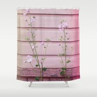 finland Shower Curtains featuring Porvoo I- Finland by Cynthia del Rio