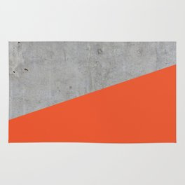 Concrete and Flame Color Rug