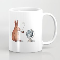 Pipe-smoking rabbit Mug