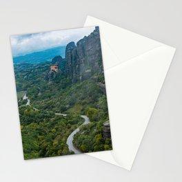 Meteora Monastery Landscape Stationery Cards