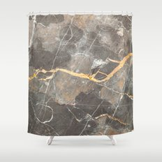 Grey Marble Shower Curtain