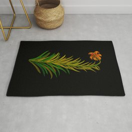 Lilium Byzantinum by Mary Delany Paper Collage Floral Flower Botanical Paper Mosaic Vintage Scientif Rug