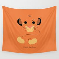 simba Wall Tapestries featuring Heir to the throne by eqbal