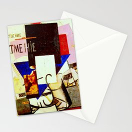 Composition with the Mona Lisa by Kazimir Malevich - Vintage Painting Stationery Cards