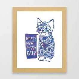 What's New Pussycat Framed Art Print