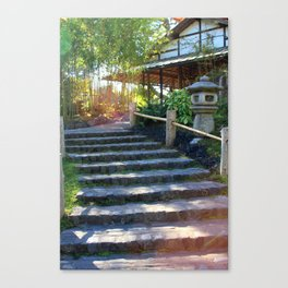 Japanese Tea Garden Stairs Canvas Print