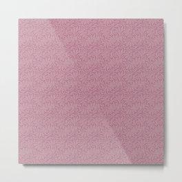 Gentle grey pink pattern . Dusty rose. Metal Print