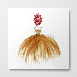 Not Your Everyday Ginger Metal Print