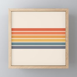 Parama - Classic Colorful 70s Vintage Style Retro Racing Summer Stripes Framed Mini Art Print