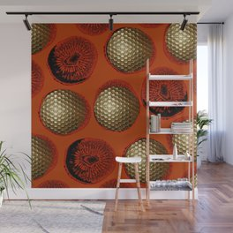 ORANGE RED GOLD Wall Mural