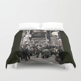 Times Square Seats Duvet Cover