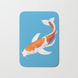 Geo Koi Orange & White Bath Mat