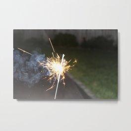 Smoking Sparklers Metal Print