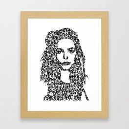 Kanji Calligraphy Art :woman's face#10 Framed Art Print