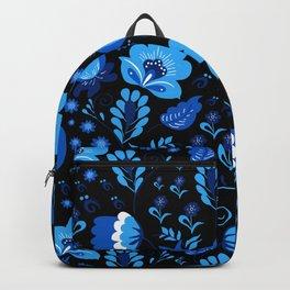 Gzhel - black Backpack