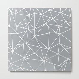 Ab Out Spots Grey Metal Print