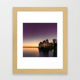 Sunset At Chillon Framed Art Print