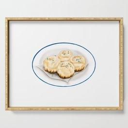 Dim Sum | Pan Fried Dumplings | 生煎包 Serving Tray